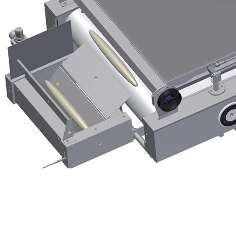 Photocell activated dough depositing unit