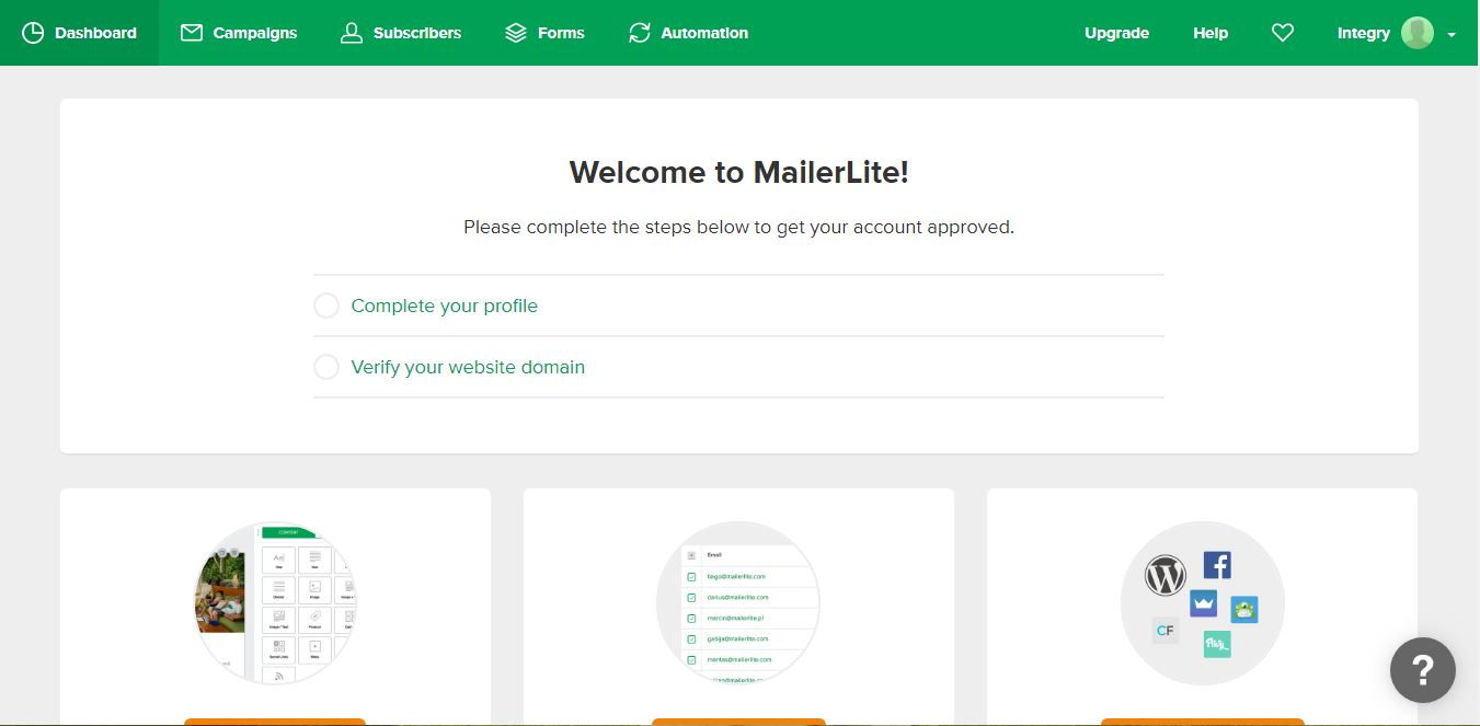 MailerLite 1 Screenshot