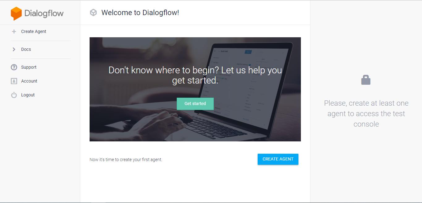 Dialogflow Screenshot