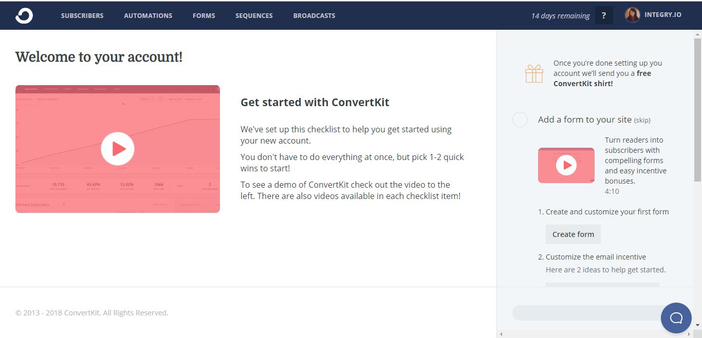 ConvertKit Screenshot