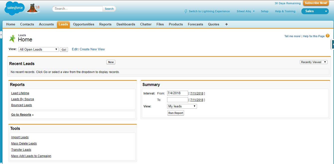 Salesforce Screenshot