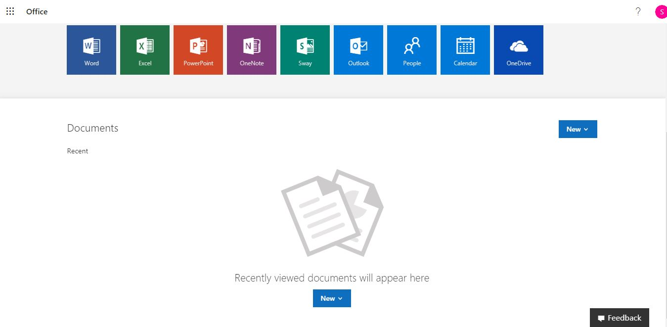 Office 365 Screenshot