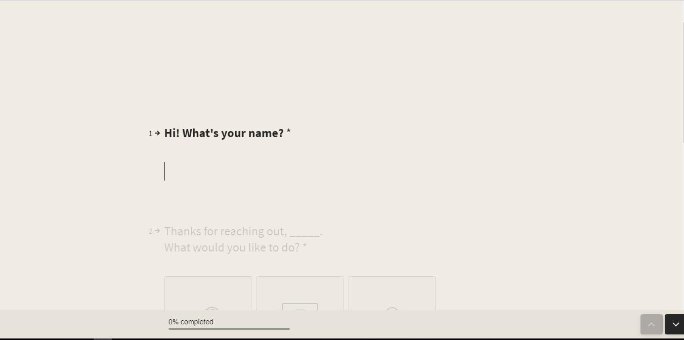 Typeform Screenshot