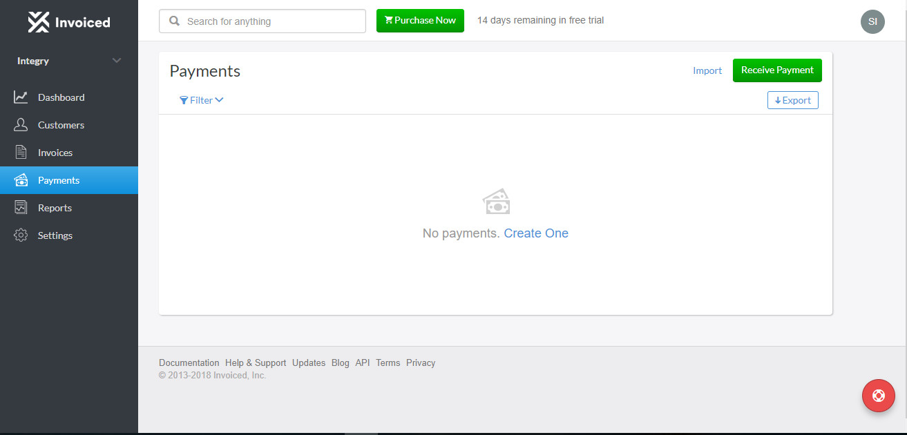 Invoiced Screenshot