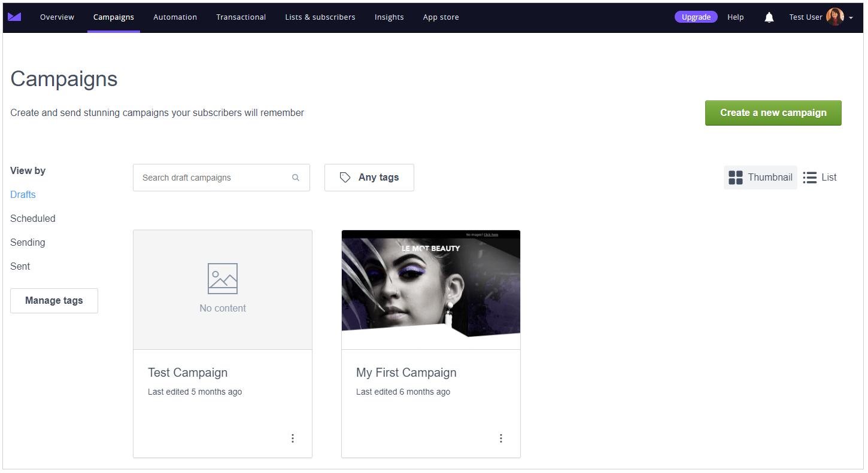 Campaign Monitor Screenshot