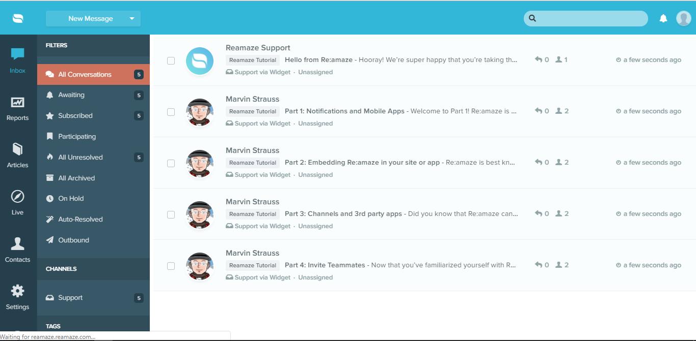Reamaze Screenshot
