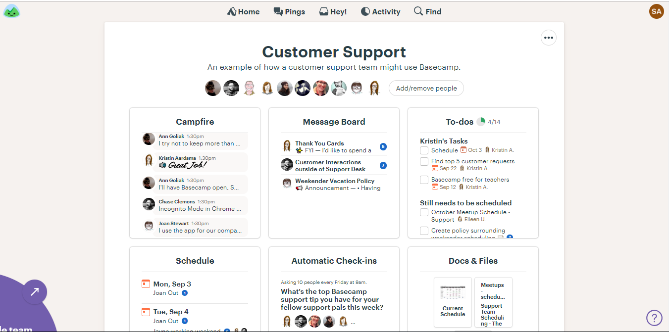 Basecamp3 Screenshot