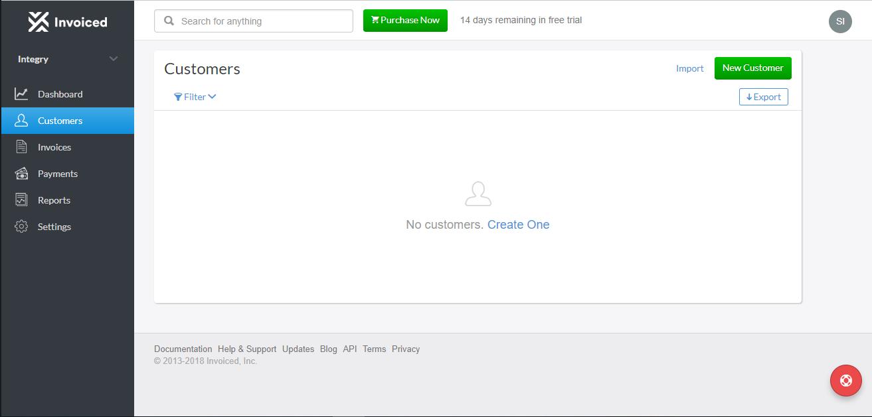 Invoiced Screenshot