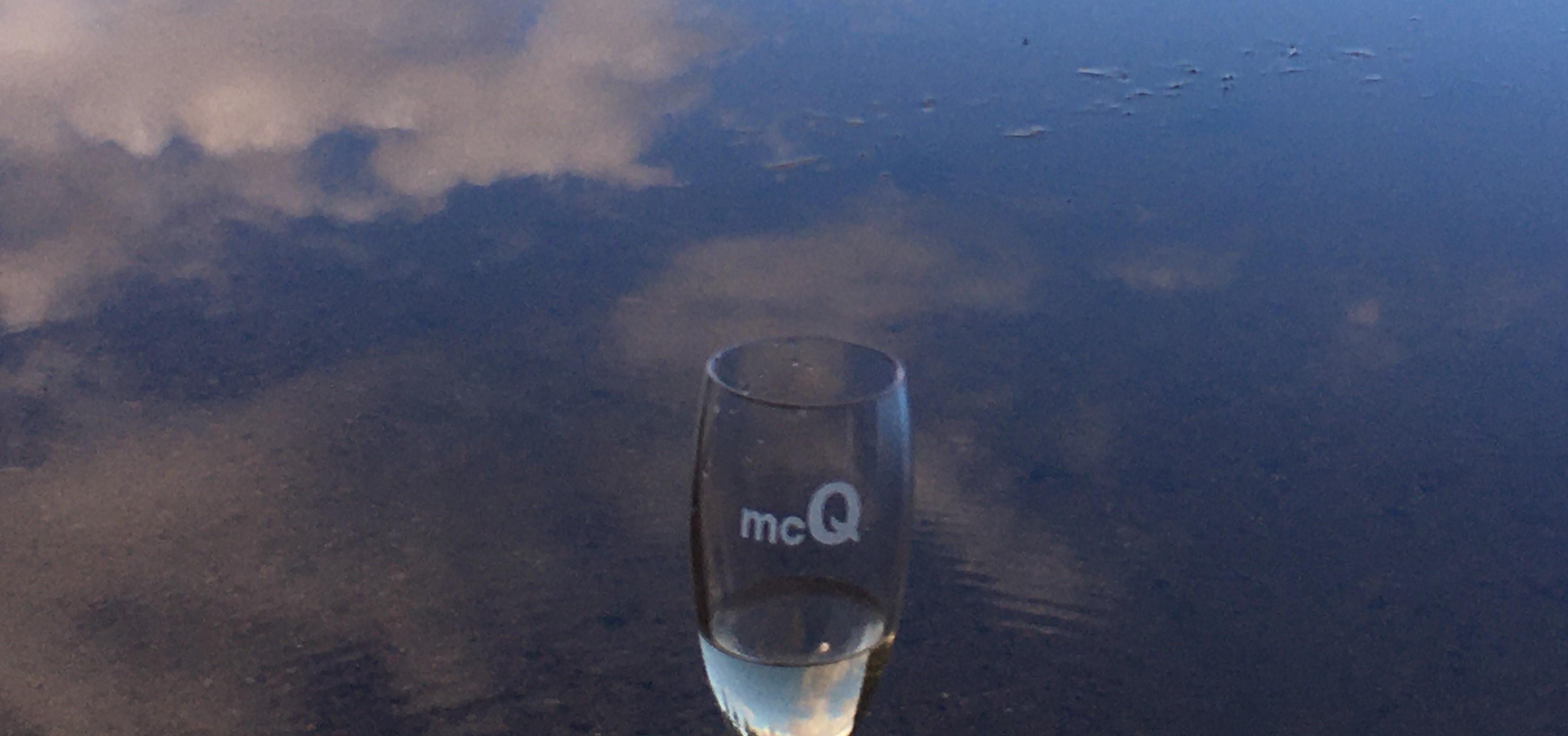 Glas vid sjö