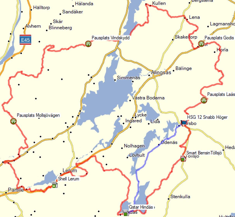 Karta Hojsläppet Grus