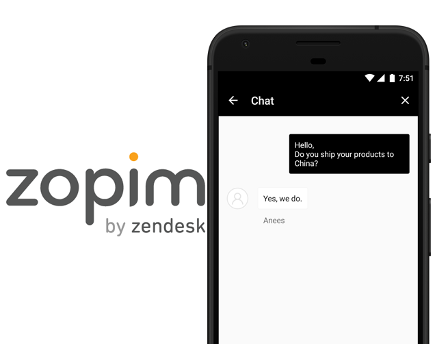 WooCommerce App Zopim support