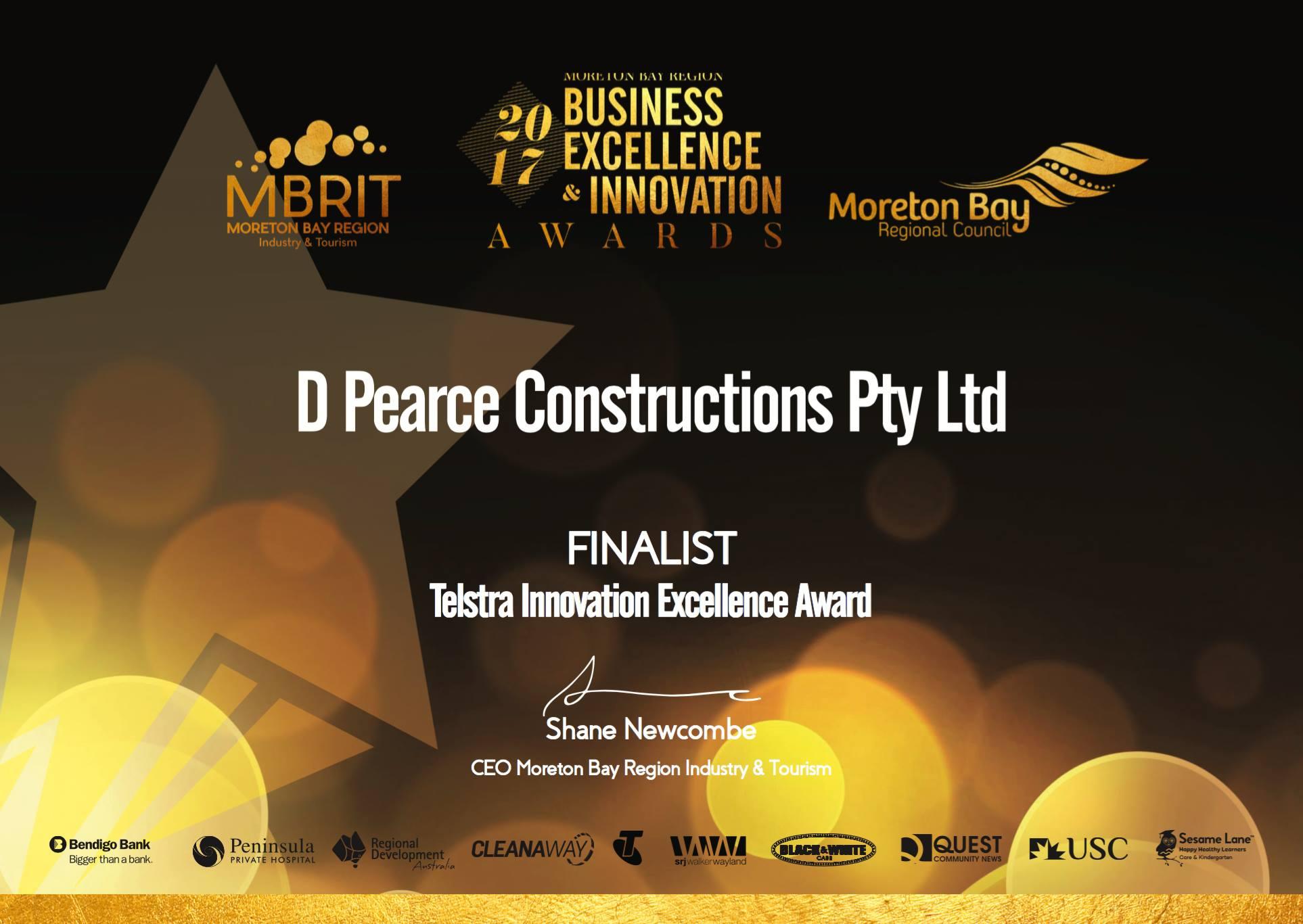 2017 Telstra Innovation Excellence Award Finalist - QuoteSpec