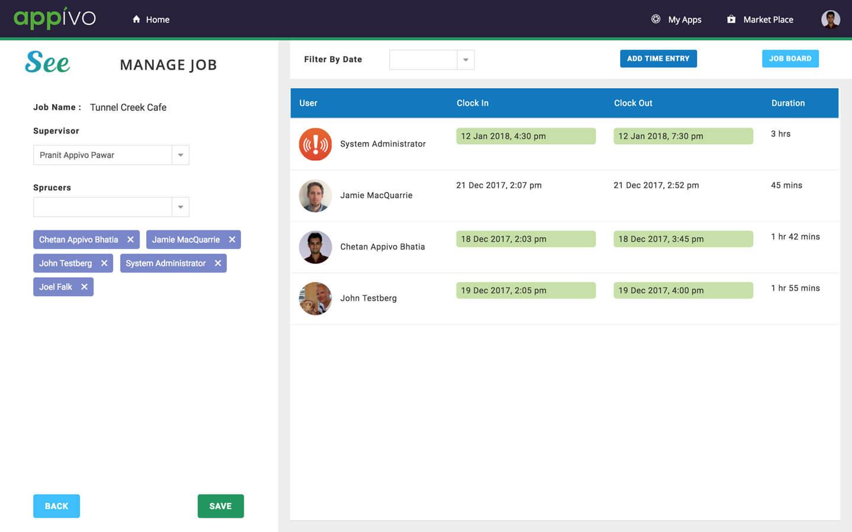 see app manage job