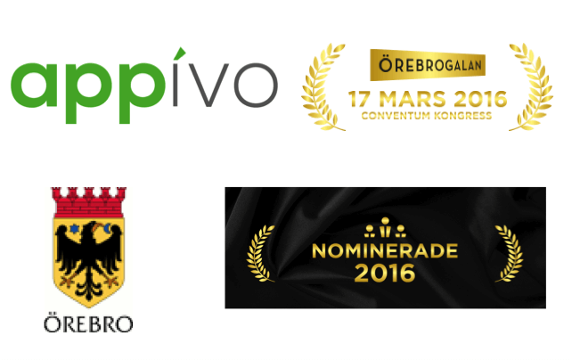 Örebrogalan nominates Appivo for innovation of the year!