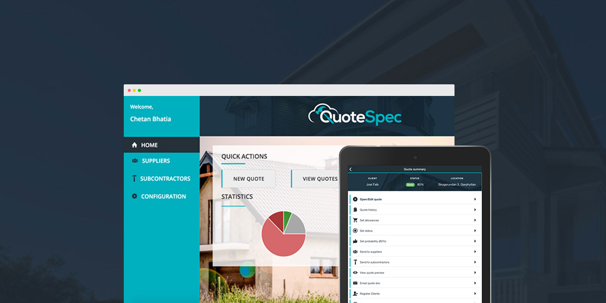 QuoteSpec: Quoting solution for construction industry