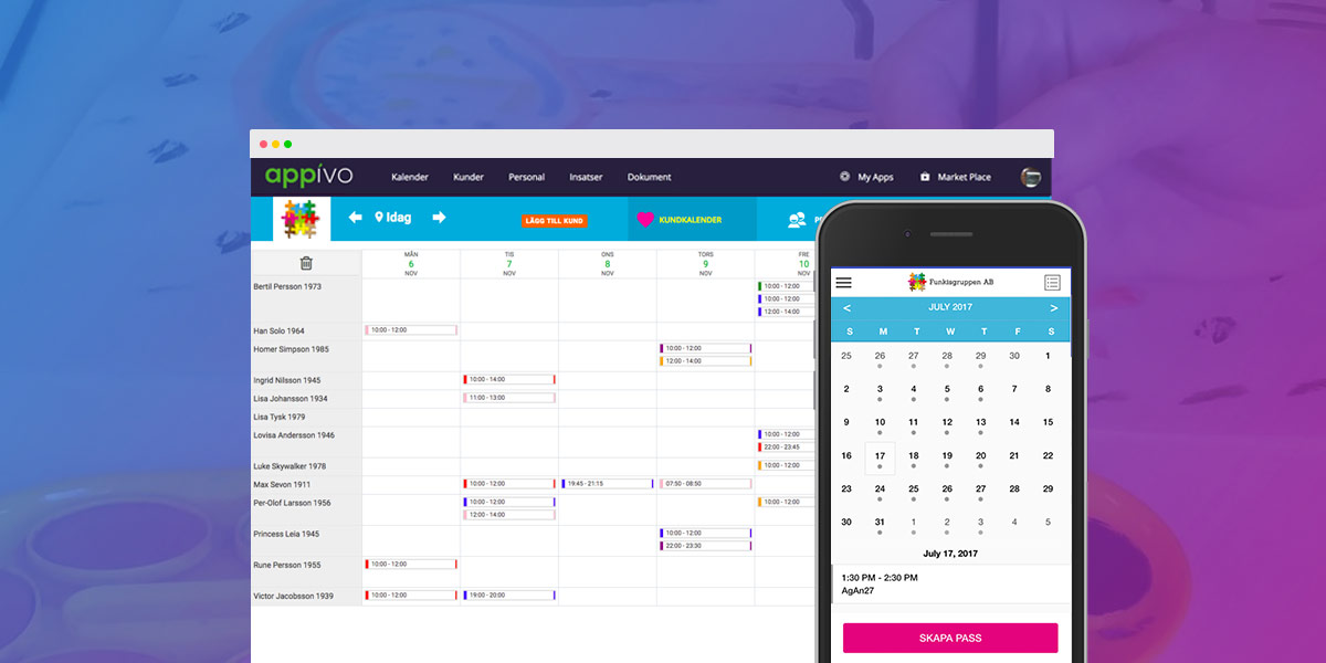 Funkisgruppen – Simplified scheduling and operations