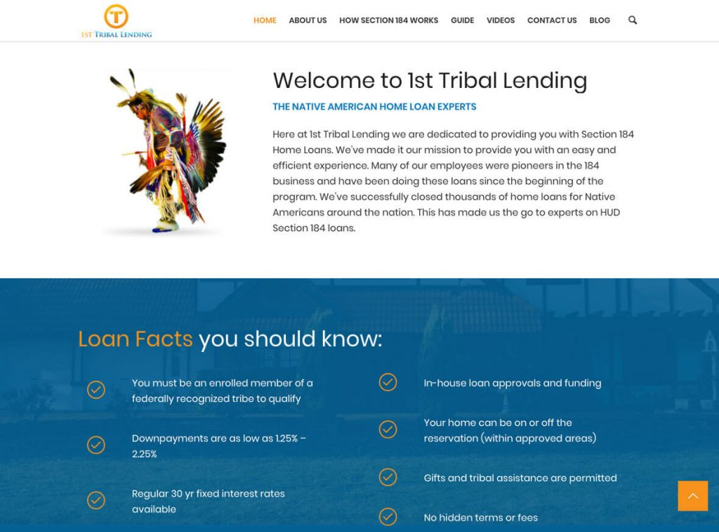 1st Tribal website