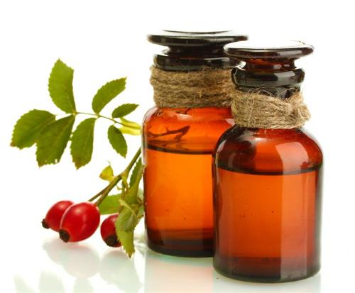 Rosehip oil for exfoliation