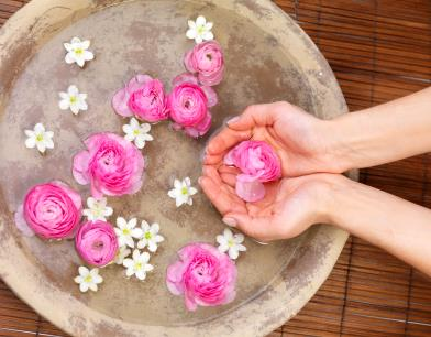 Rosewater for natural toner