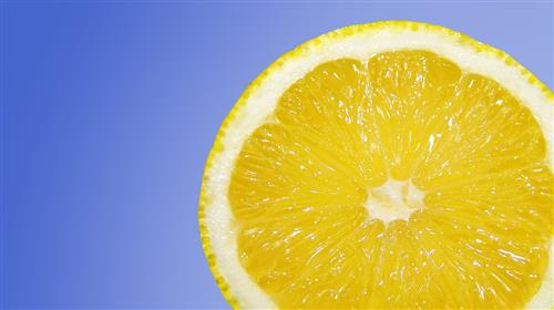 Lemon Vitamin C anti-aging