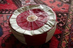 A pouf is a perfect example of BoHo Chic furniture