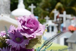 Traditionally flowers were placed on the graves of fallen soldiers