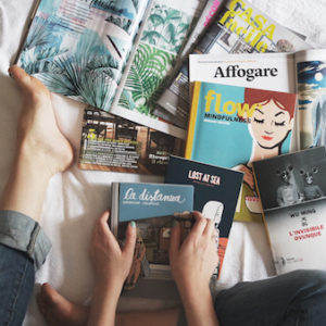 Your favorite books, magazines, and movies are always good to keep on hand