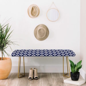 The Leela Navy Bench is great for entryways