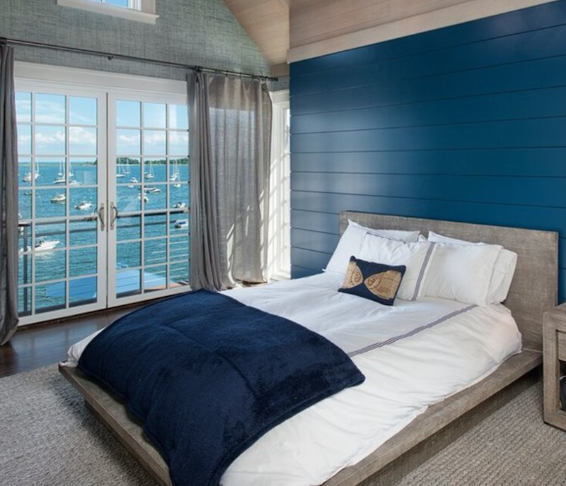 Nautical and white bedding are good together