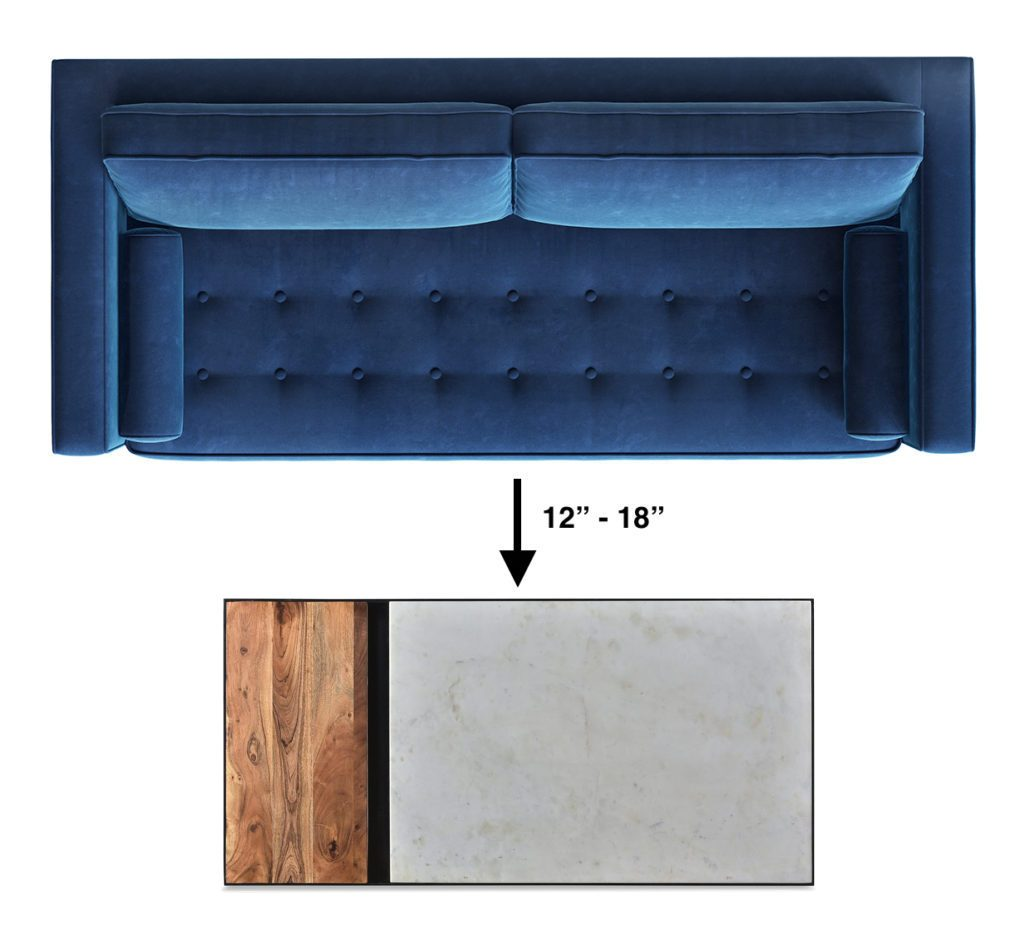 Cool The Ultimate Coffee Table Size Guide Apt2B Pdpeps Interior Chair Design Pdpepsorg