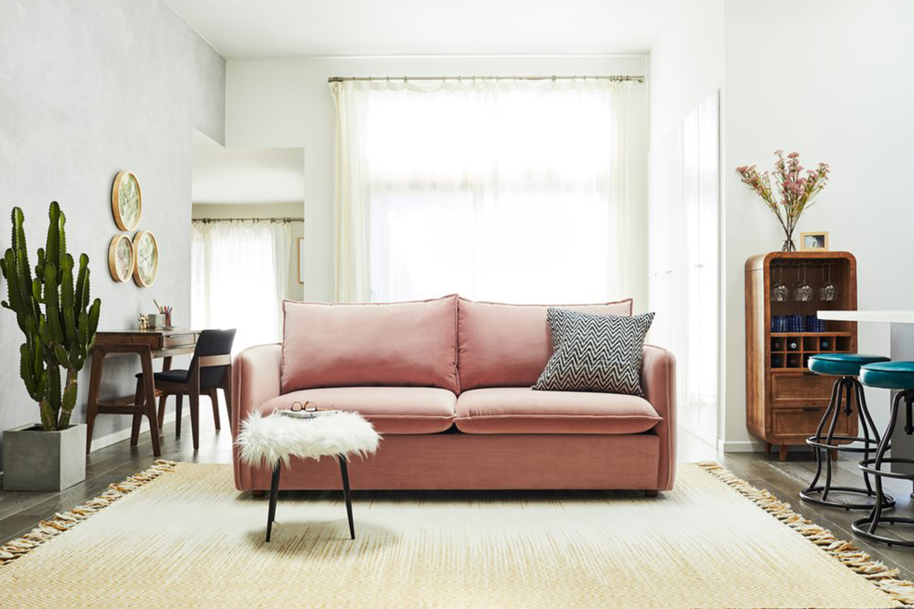 Interior Design Trends 2020_Blush Velvet Sofa