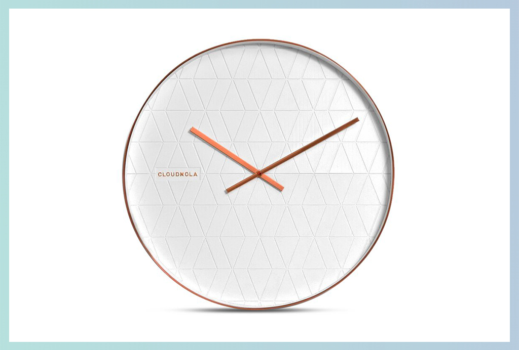 Apt2B Wall Clocks_White Geometric