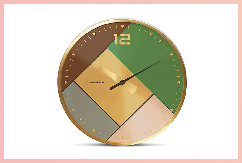 Apt2B Wall Clocks_Small Gold