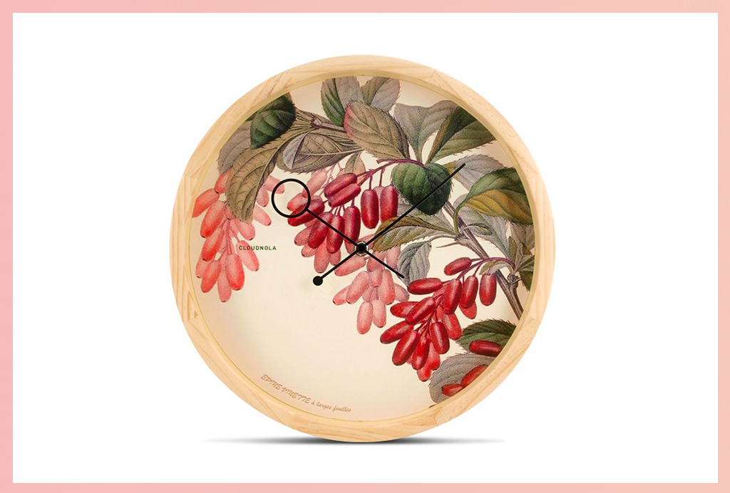 Apt2B Wall Clocks_Wood Floral
