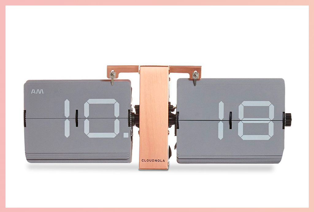Apt2B Wall Clocks_Copper Flip Clock