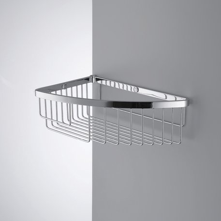 Single corner basket for the shower or bathtub