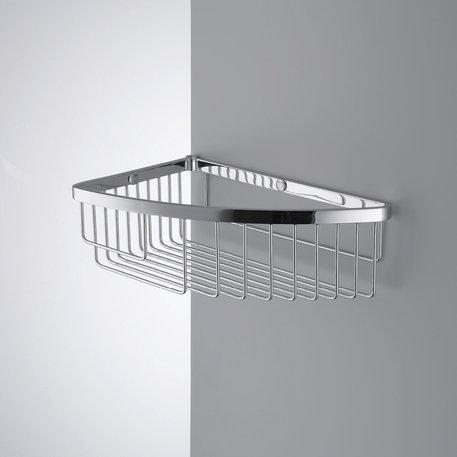 Panier d'angle simple pour la douche ou la baignoire
