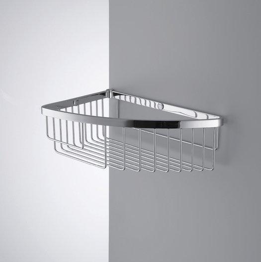Single corner basket for the shower or bathtub