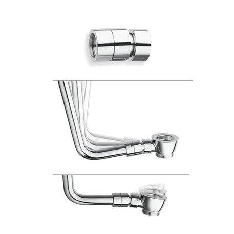 Raccord excentrique en laiton pour la régulation angulaire du tube siphon