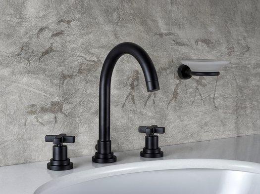 M.CROCE 3-hole design faucet in mat black