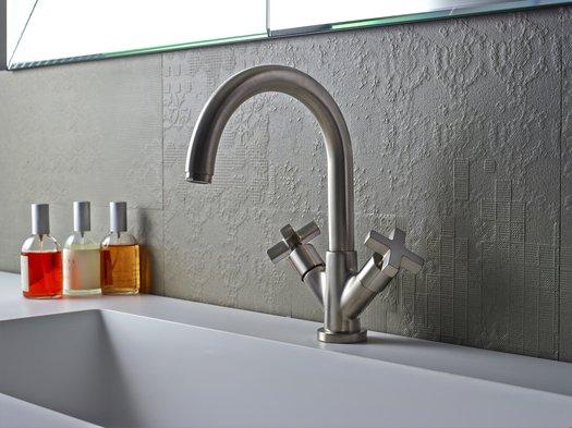 M.CROCE two-handle mixer for lavabo 950.2236.27.xx decor