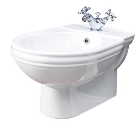 Wall mounted cottage style bidet