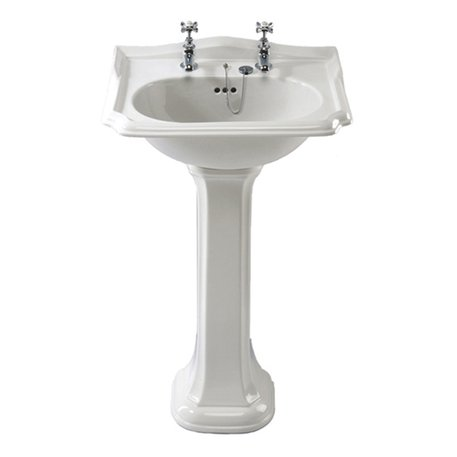 Stylish retro basin on pedestal / foot