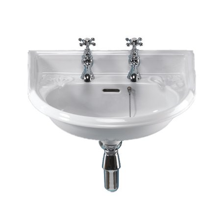 Victorian cloakroom basin in classical style with 1 or 2 tapholes