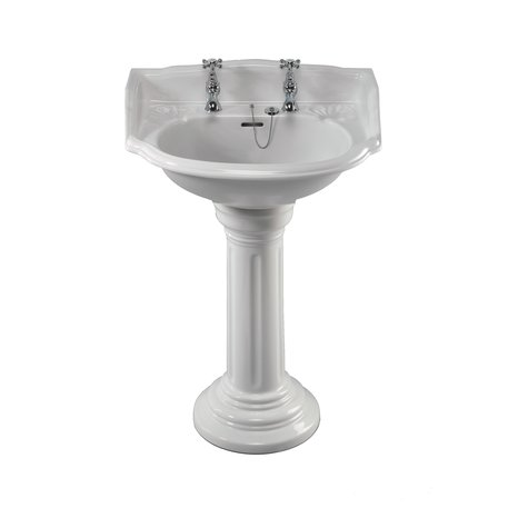 Belgravia stylish country washbasin on pedestal for the bathroom