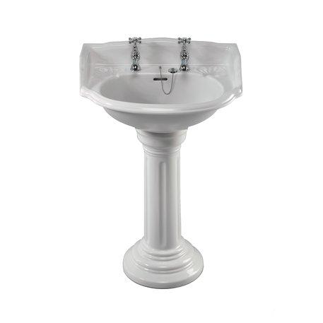 Elegante landelijke Belgravia lavabo op zuil voor de badkamer
