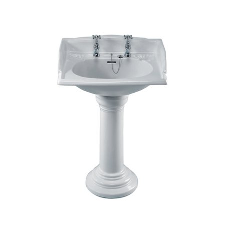 Victorian basin on pedestal for the cottage bathroom