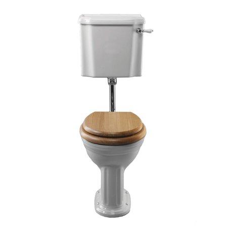 Belgravia WC met half-hoog spoelreservoir voor de cottage badkamer