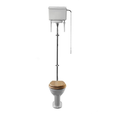 Belgravia toilet met hoog hangende spoelreservoir