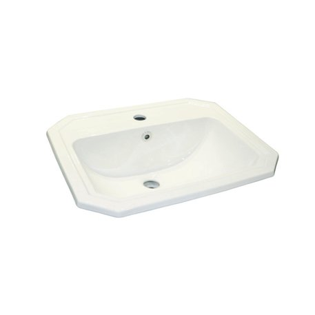 Retro style ceramic inset washbasin